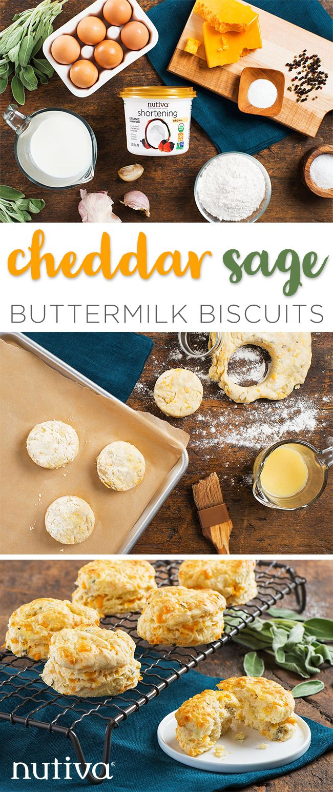 Cheddar and Sage Buttermilk Biscuits kitchen.nutiva.com