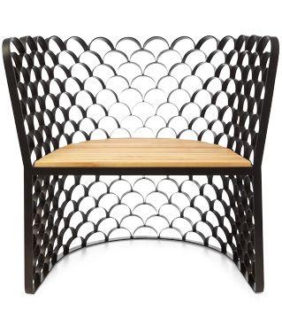 Elegant Koi Lounge Chair Singapore Designer Jarrod Lim Reinterprets The Classic Fish  Scale Pattern In Welded Steel Pictures Gallery