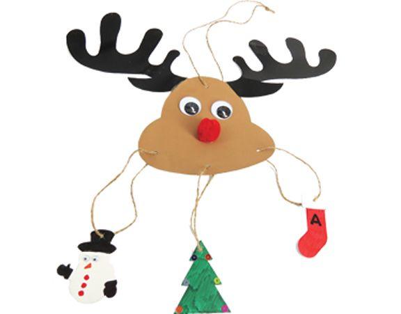 Christmas | Christmas activity kits | CARD REINDEER MOBILE KIT - Camartech