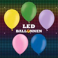 Led Ballonnen 5 stuks -  Led ballonnen. Ballonnen met een led lampje dat boven in de ballon vastzit, waardoor het licht mooi de hele ballon vult. Uw ballon veranderd hierdoor als het ware in een soort lamp. Het effect van de lichtgevende ballonnen is schitterend! Perfect voor themafeesten, bruiloften, verjaardagen of andere speciale gelegenheden. De kleuren van de 5 ballonnen zijn: geel, lichtgroen, lavendel, lichtroze en lichtblauw. De led ballonnen zijn ook verkrijgbaar in wit…