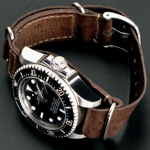 I know it's a Rolex, but damn it looks good with that dark brown leather strap.