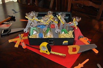 tool birthday ideas but could use it for construction theme