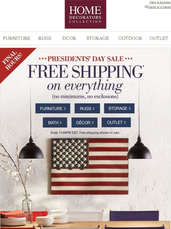 Free Shipping On Everything!   Home Decorators Collection