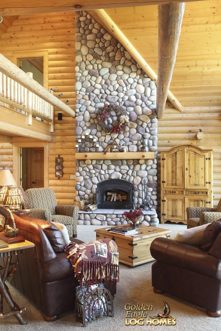 17 best images about casas de madeira on pinterest for Log home fireplace pictures