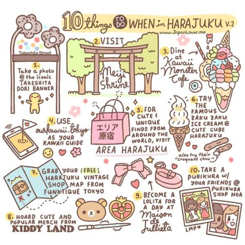 ♡ 10 Things To Do When in Harajuku by Japan Lover Me​ - (2015 Version) ♡ 1. Take…