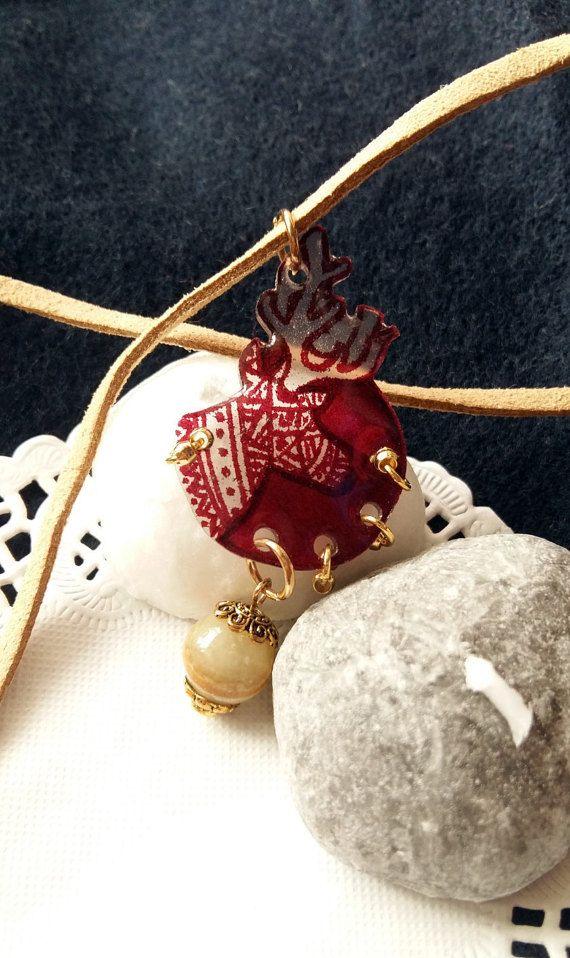 Henna dear necklace by MirageByHeilaG https://www.etsy.com/listing/481138461/henna-deer-necklace-indian-deer-necklace