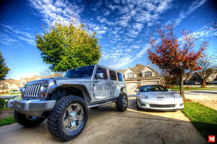 2009 Jeep Wrangler, 2010 Chevrolet Corvette Grand Sport Ward 1 Toy Garage #corvette #grandsport #jeep #wrangler #jeepwrangler #chevorlet #camaro #ss #custom #ward1 #sportscars #trucks #4x4