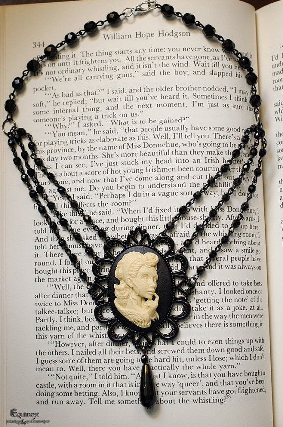 Owl Girl  Gothic Jewelry  Gothic Necklace  by VictoriaEquinox