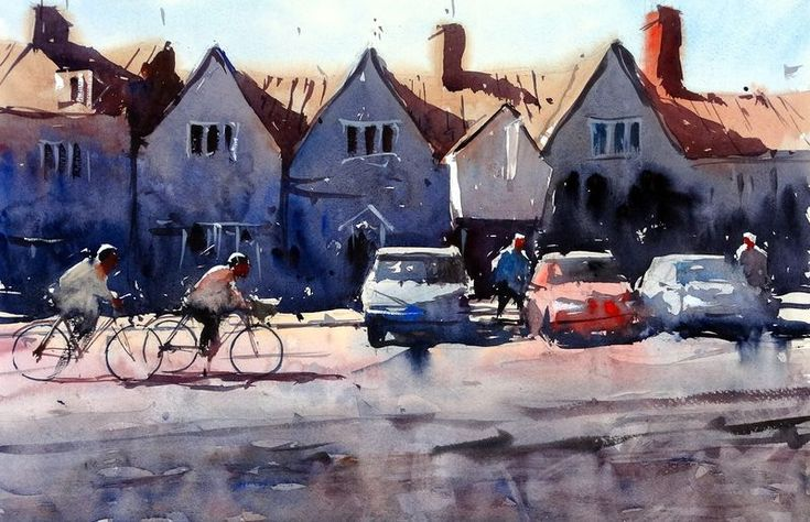Cyclists chipping sodbury high street by Tim Wilmot