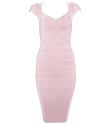 New Trending Formal Dresses: Bqueen Women's Bandage Dress Elegant Square Neck Bodycon Cocktail Dresses BQ1305-1 (S, Apricot Pink). Special Offer: $45.00 amazon.com Wearing Occasions:Party Dress,Evening Dress,Cocktail Dress,Celebrity Dress,Prom Dress Washing Instructions: (a)Please washed by hand in cold water. Do not use hot water to wash,can't use washing machine, (which can dry cleaning) (b)Medium temperature to...