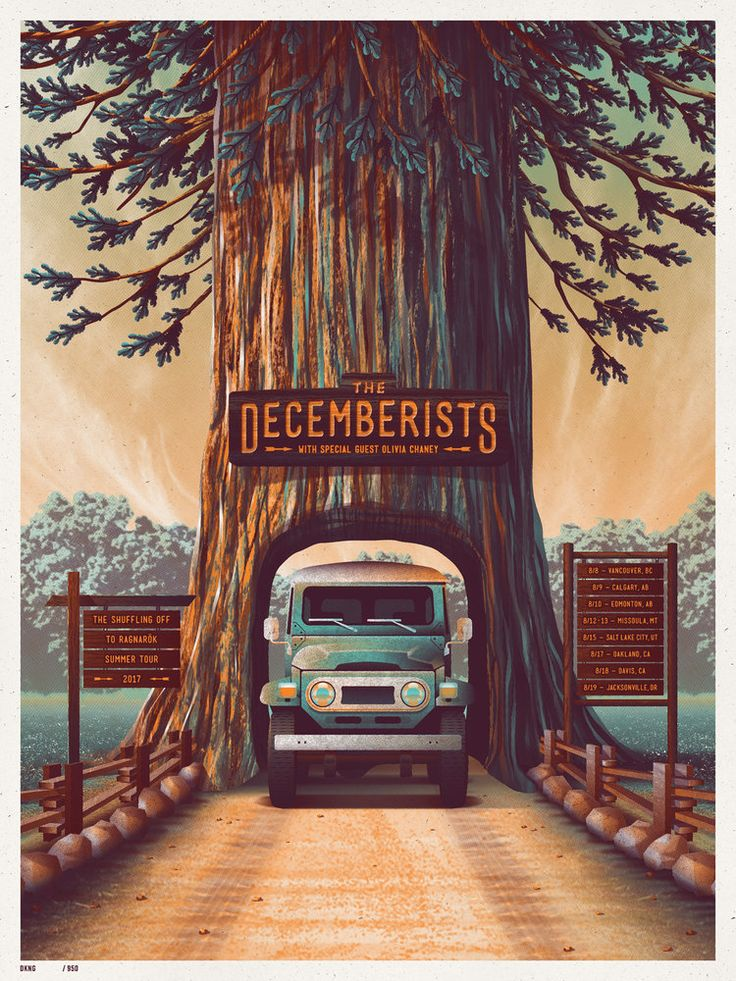 The Decemberists 2017 Tour Poster by DKNG