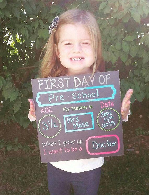 1st day of school chalkboard