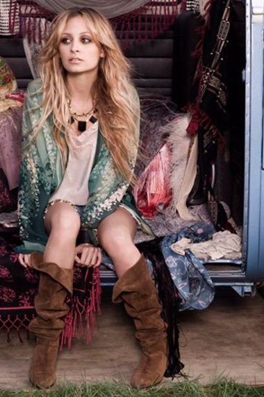 Boho chic. Nicole Richie is the quintessential Bohemian chick.