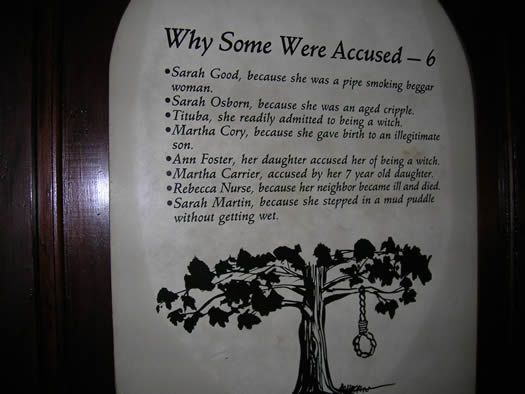 reasons behind the salem witchcraft trails Abigail williams was one of the first afflicted girls in the salem witch trials at the time of the salem witch trials, abigail was living with her uncle, reverend samuel parris, his.
