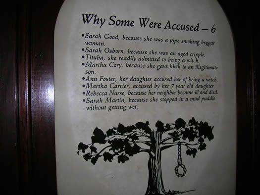 Rebecca Nurse Salem Witch Trials | ... Were Accused - Witch Dungeon Museum in Salem, MA - Salem Witch Trials