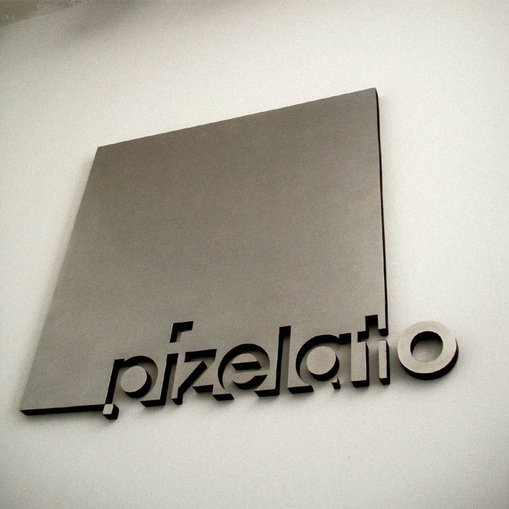 Pizelato stainless steel sign