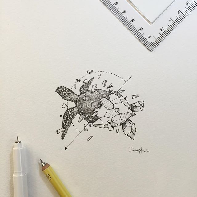 Geometric Beasts | Sea Turtle