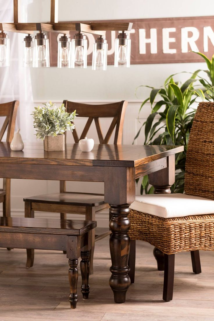 Design james design hardwood wingback chair dining room chair - The Baluster Table Couples The Elegance Of Large Turned Legs With The Strength Of A Rustic Solid Wood Table We Love Seeing It Styled With This Amazing