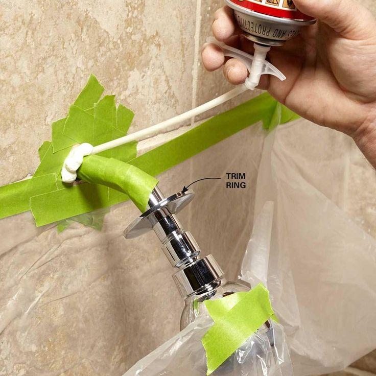 Foam a Loose Showerhead - 10-Minute House Repair and Home Maintenance Tips: http://www.familyhandyman.com/smart-homeowner/diy-home-improvement/10-minute-house-repair-and-home-maintenance-tips#4