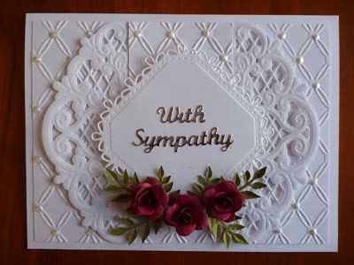 Handcrafted by Helen: Sympathy with roses