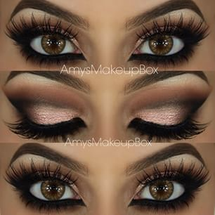 Smokey eye makeup for brown eyes for prom