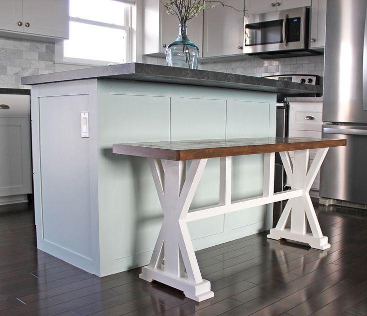 How To Build A Farmhouse Counter Height Bench For Your Kitchen Counter Height Bench Diy Countertops Bar Bench