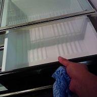 Hometalk :: For fast easy cleanup line your refrigerator with vinyl shelf liner. S…
