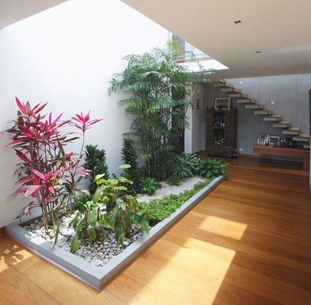 Mejores 50 im genes de jardines interiores modernos en for Modelos de jardines interiores