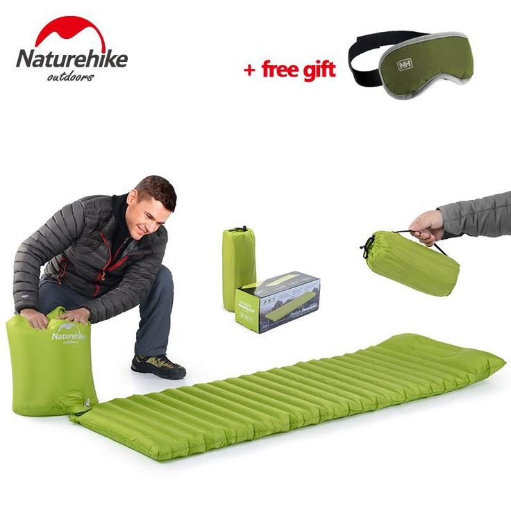 [Visit to Buy] Naturehike Ultralight Outdoor Air Mattress Moistureproof Inflatable Air Mat With TPU Camping Bed Tent Camping Mat Sleeping Pad #Advertisement