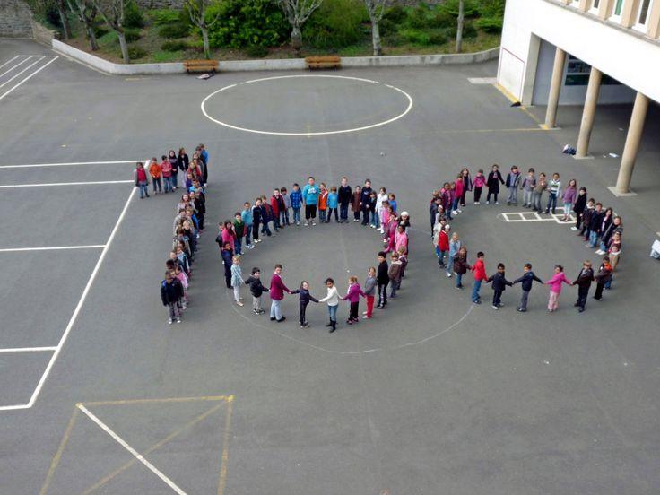 Photo à faire avec tous les amis de la maternelle lors de la fête des 100 jours.