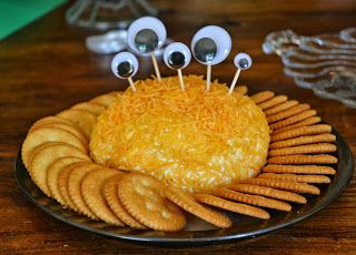 Monster Party Cheese Ball.... Lots More Monster Party Ideas On This Site....