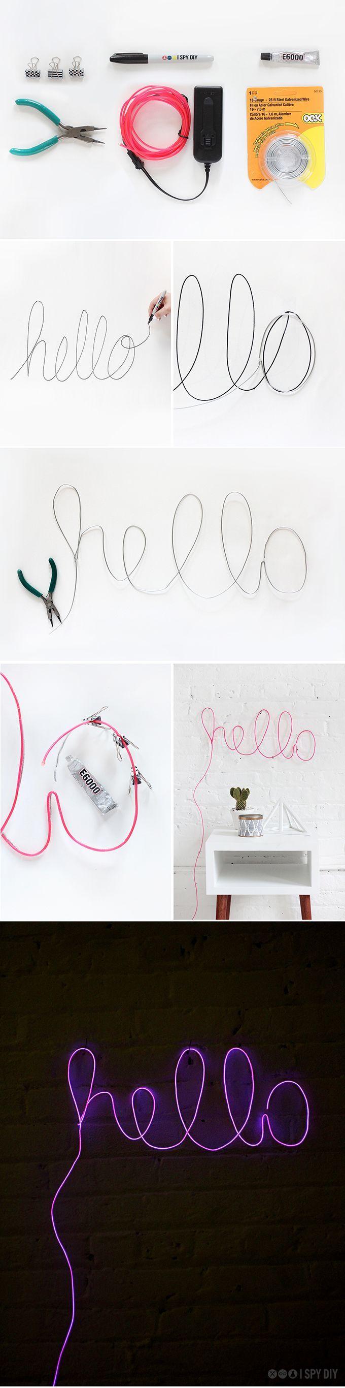 ~ des lettres néons à faire soi-même ~ via @YukiMichiko