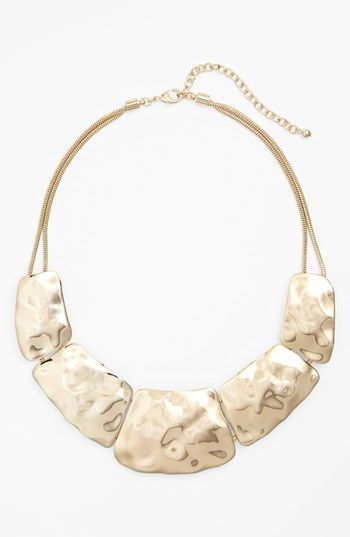 Hammered Collar Statement Necklace