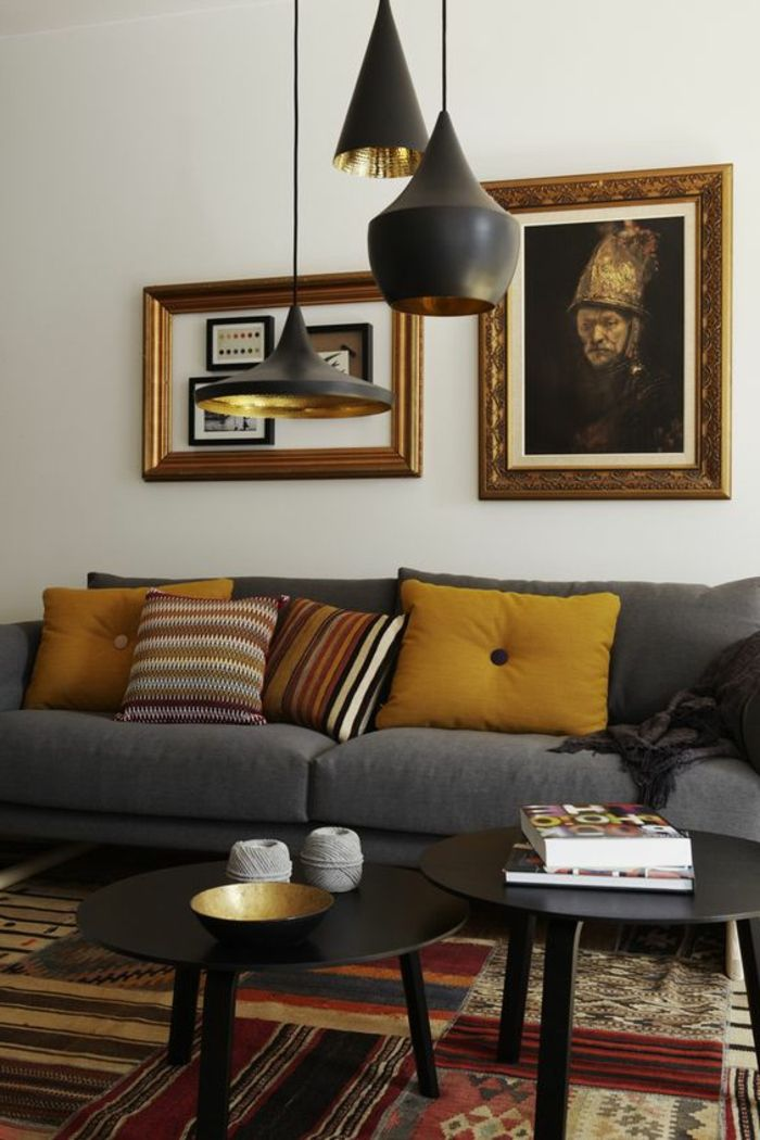 17 best ideas about sofa gris on pinterest salon gris for Deco salon gris et jaune