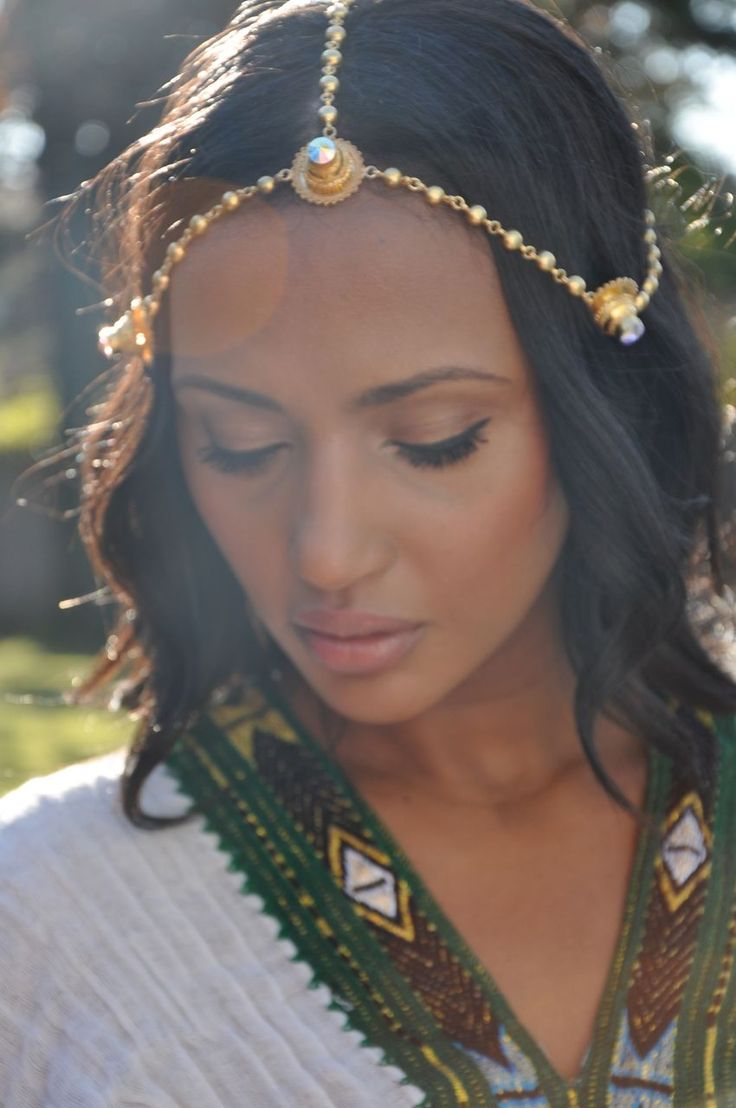 Helena Wearing Our Mother S Eritrean Gold Head Jewelry And