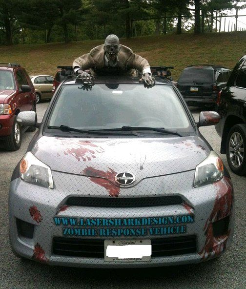 dishfunctional designs awesome halloween home decorating ideas hahaha must dress up the car - Car Decorations For Halloween
