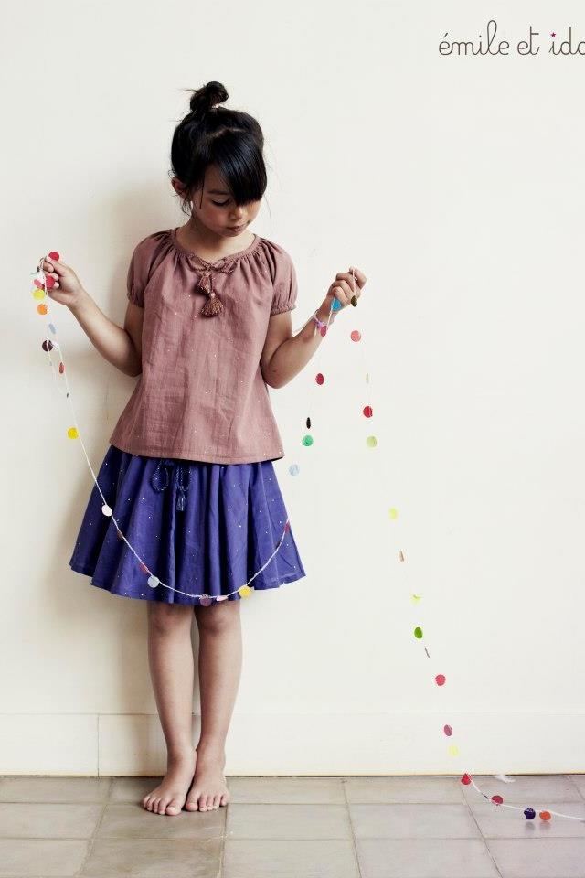 Little girl skirt and top