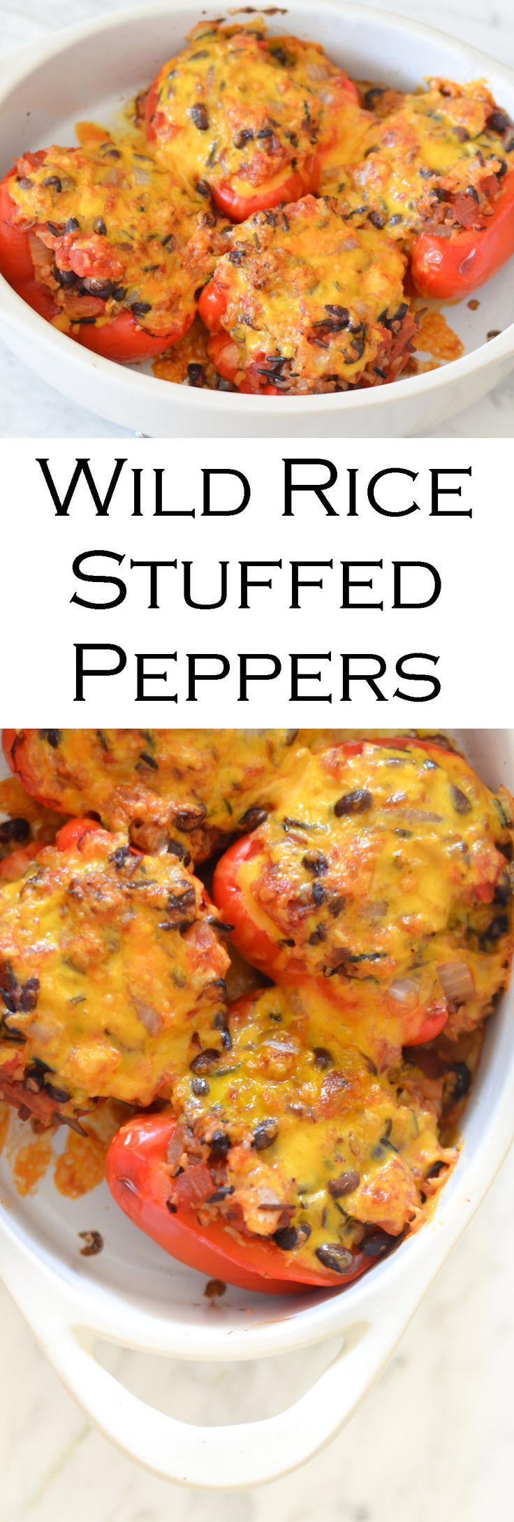 These Wild Rice Stuffed Peppers are the perfect way to treat yourself any day of the week!
