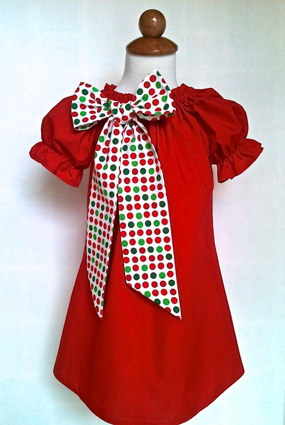Girls christmas dress toddlers christmas dress by 8thdaystudio
