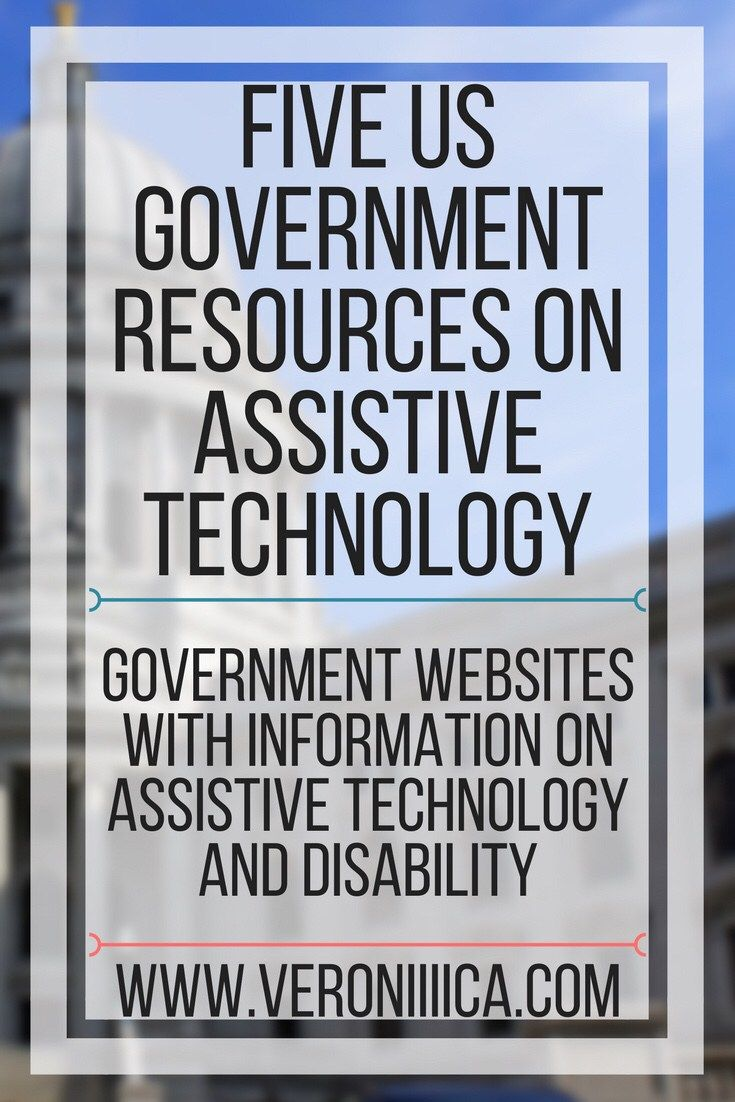 Five US Government resources on assistive technology. Government websites with information on assistive technology and disability.
