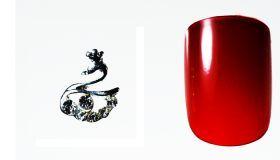 FF Nail Art Kit Κόσμημα A, Νο 15 (2 Τεμ.) Κοσμήματα Nail Art για μοναδικά nail design. Είναι κατάλληλα για τεχνητά νύχια (ακρυλικό και gel) καθώς και για σχέδια σε μόνιμο βερνίκι. Το νύχι της φωτογραφίας είναι ενδεικτικό για να κατανοήσετε το μέγεθος του κοσμήματος και αντιστοιχεί σε ένα μεσαίο γυναικείο νύχι (δείκτης ή παράμεσος) μικρού μήκους. Αναλογία σε tip: 6-7 νούμερο. Τιμή €3.00