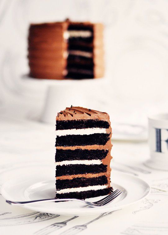 COZYmade Blog: Saw It, Pinned It, Made It: 6-layer Rich Chocolate Malted and Toasted-Marshmallow Cake
