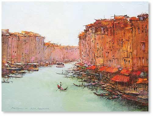 """Venice. Grand Channel canvas, oil 34.6""""x26.0"""", 2007; 2100$"""