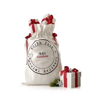 Santa sack to DIY?   Christmas   Pinterest