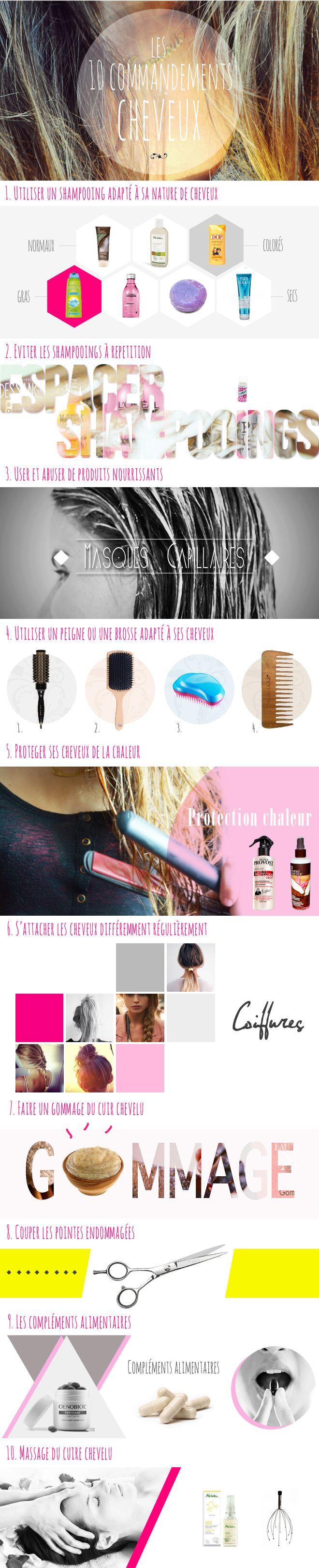 Les 10 commandements des cheveux ↓  http://myprettylittlereviews.fr/10-commandements-cheveux/