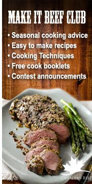 Join the Make It Beef Club for recipes, tips, cooking techniques, and contest announcements http://www.beefinfo.org/default.aspx?ID=19 #LoveCDNBeef #MakeitBeefClub