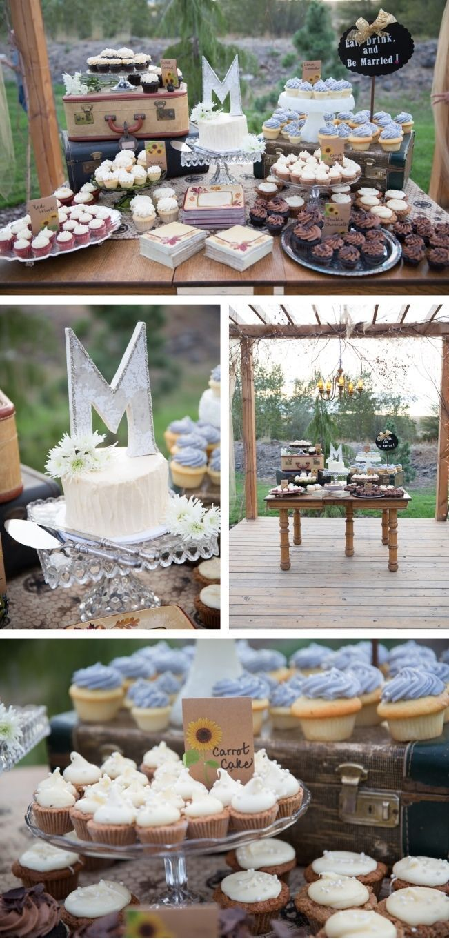 http://sweetvioletbride.com/2014/01/diy-fall-oregon-barn-wedding-captured-corrin/ DIY Fall Oregon Barn: Gorgeous fall wedding done completely by bride's family! Day full of country chic details including: rustic cupcake bar, handmade signs, s'mores kits for roasting by the fire, barn filled w/paper lanterns & stunning fall bouquet with rich fall hues of gold, peach, orange, burgundy, green, & black. Elegant black bridesmaids' dresses paired w/cowboy boots made for a classy-rustic affair.: