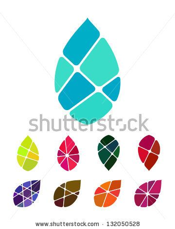 Design vector drop water or leaf logo element. Colorful abstract pattern, icon set. by skyboysv, via Shutterstock