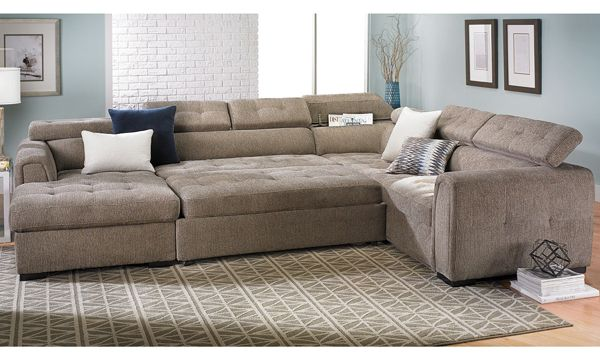 Toledo Contemporary Sleeper Storage Sectional The Dump Luxe Furniture Outlet Houston With Images Luxe Furniture Discount Living Room Furniture Furniture