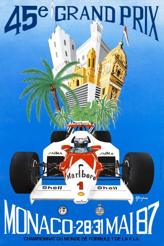#monaco #grandprix poster 1987 Winner: Ayrton Senna / Lotus-Honda Find all the Grand Prix of Monaco official products in partnership with the Automobile Club of Monaco, as well as web exclusives! http://monaco-addict.com